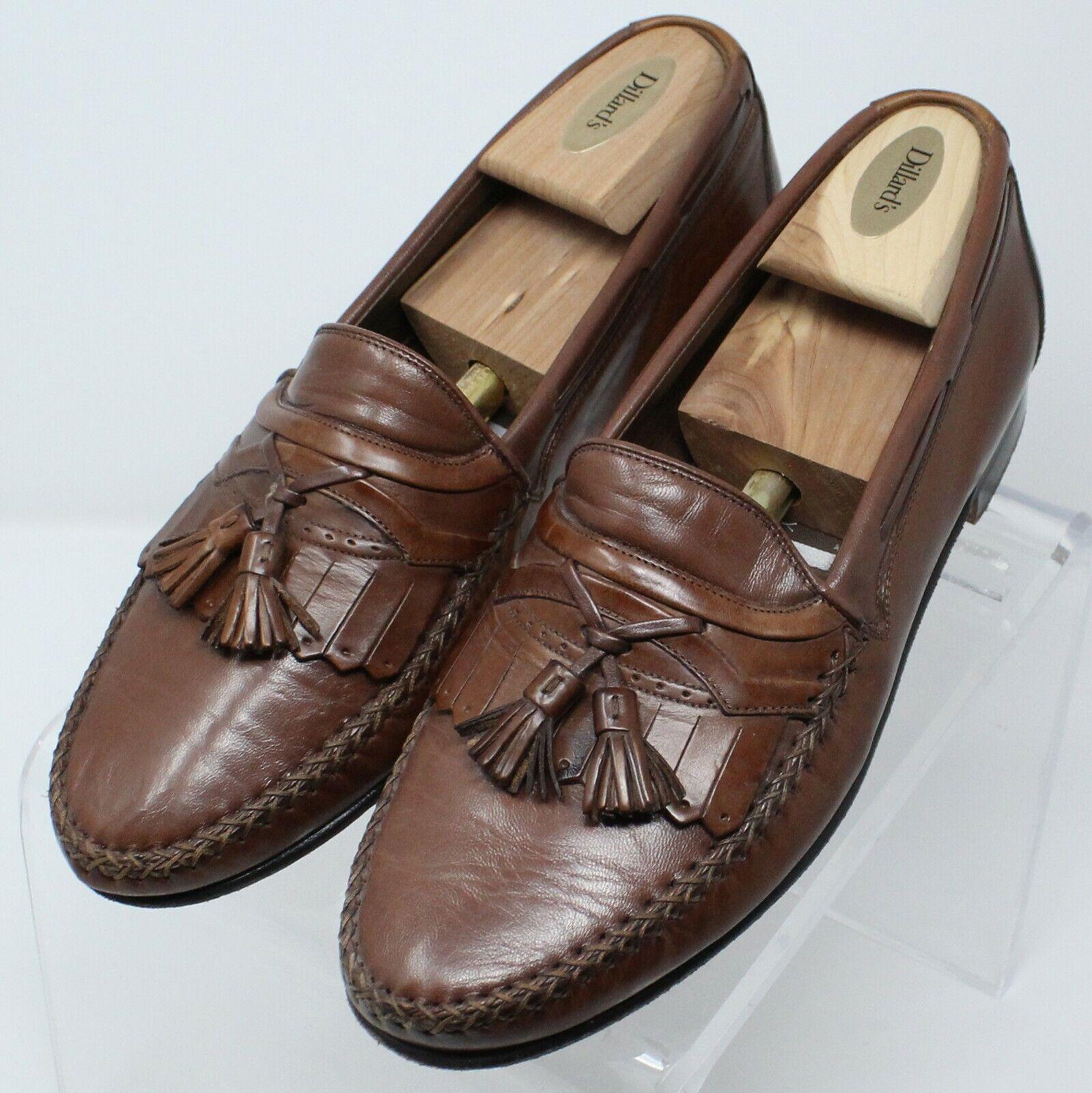Johnston & Murphy Handcrafted braun Tassel Loafer Men Sz 9.5 D M  8134 EUC