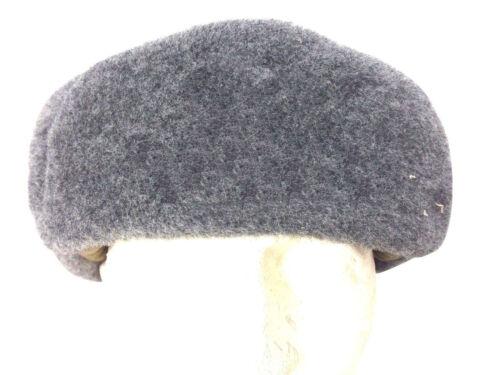 Genuine Chapka Ushanka Cold War Olive Grey Fur Lined Trapper Winter Hat S-L Warm