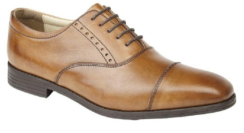 Tredflex TF4204 Capped Oxford Gibson Classic Comfort System shoes Tan