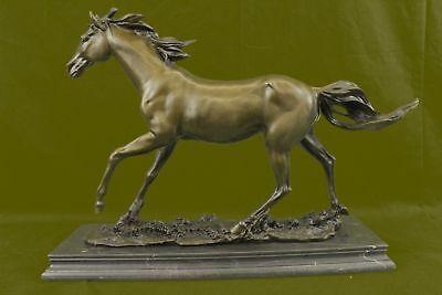 Antiquitäten & Kunst Arabian Liebhaber Stallion Bronze Skulptur Unterzeichnet Statue Reiter Figur T Buy Now