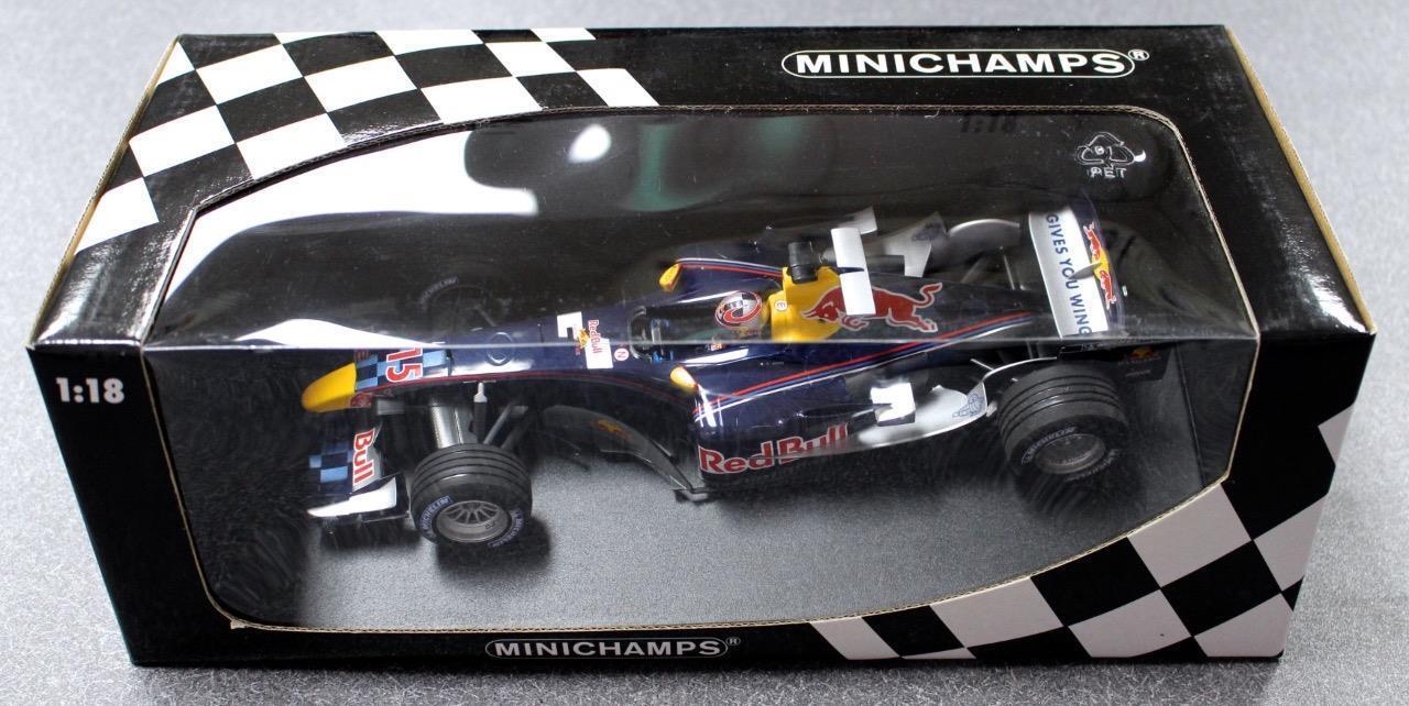 clásico atemporal Minichamps Minichamps Minichamps Escala 1 18 100 050115 rojo Bull Racing Cosworth RB1 V. Luizzi  Nuevo   venta caliente en línea