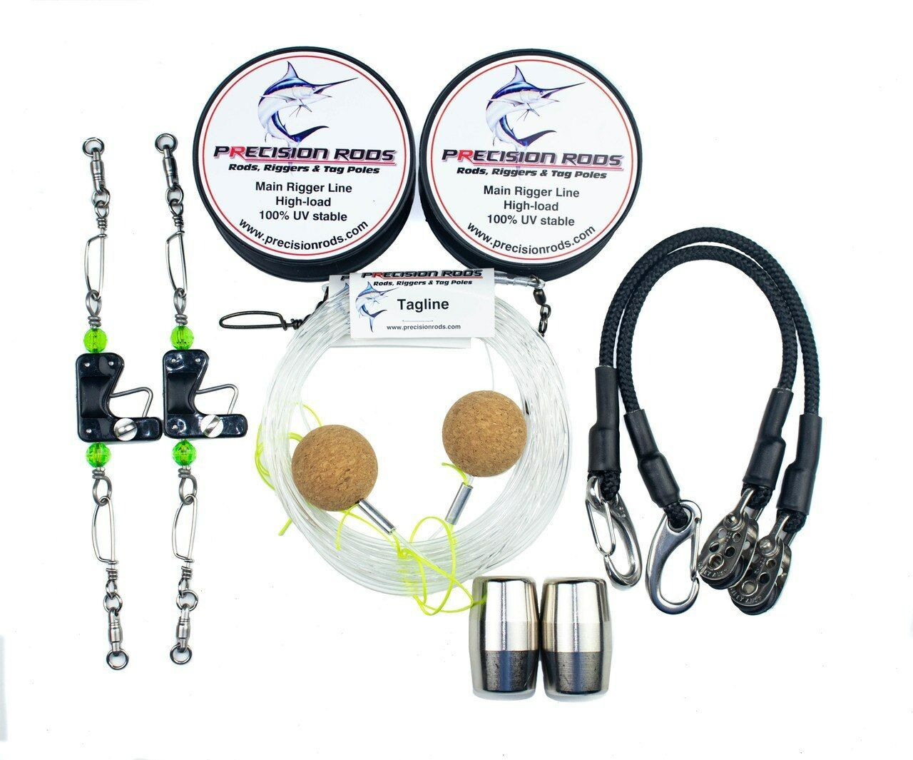 NEW Precision Outrigger Rigging Kit Stainless 18ft-20ft from bluee Bottle Marine