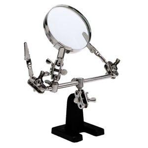 Third Hand Soldering Solder Iron Stand Holder Magnifier Helping Tool 2.5X