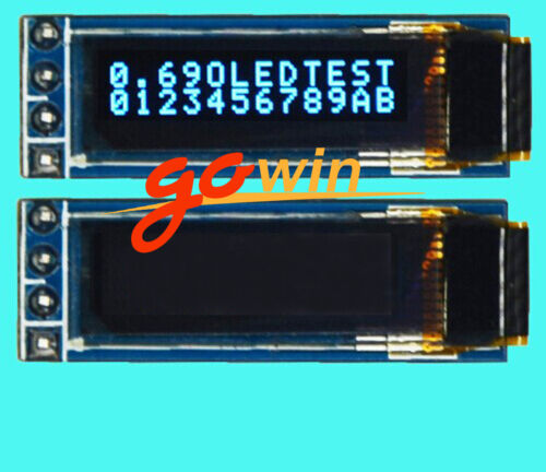 Top 3V ~ 5.5V 0.69 I2C 128x64 Monochrome OLED display module White