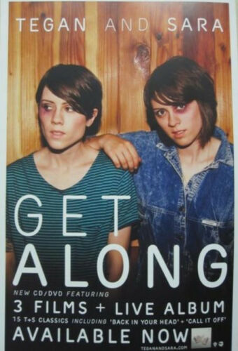 Tegan and Sara 2011 Get Along promotional poster Flawless New Old Stock