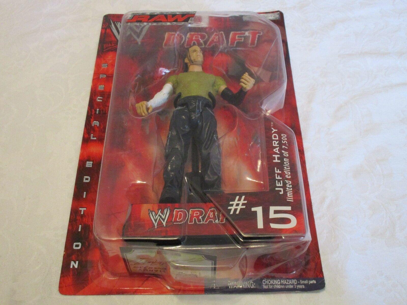 Jakks Pacific WWE Draft Raw Jeff Hardy  15 Action Figure