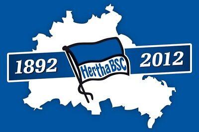 60 x 90 cm Flaggenfritze Stockflagge Hertha BSC Logo gratis Aufkleber