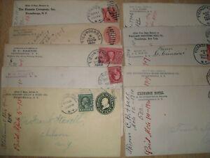 12 Vintage Ticonderoga NY Advertising Billheads Note Envelopes 1900's Historical