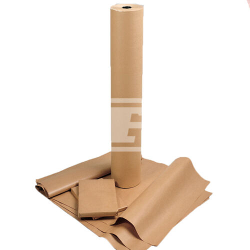 """48/"""" WIDTH HEAVY DUTY THICK BROWN PURE CRAFT PAPER 70gsm WRAPPING CHRISTMAS 18/"""""""