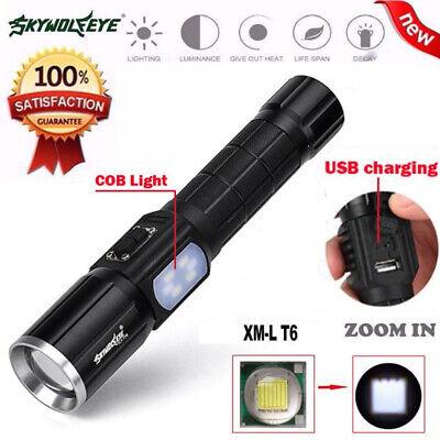 XLightFire 130000LM 6 x CREE XM-L T6 LED Hunting Flashlight 4 x 18650 Lamp Torch