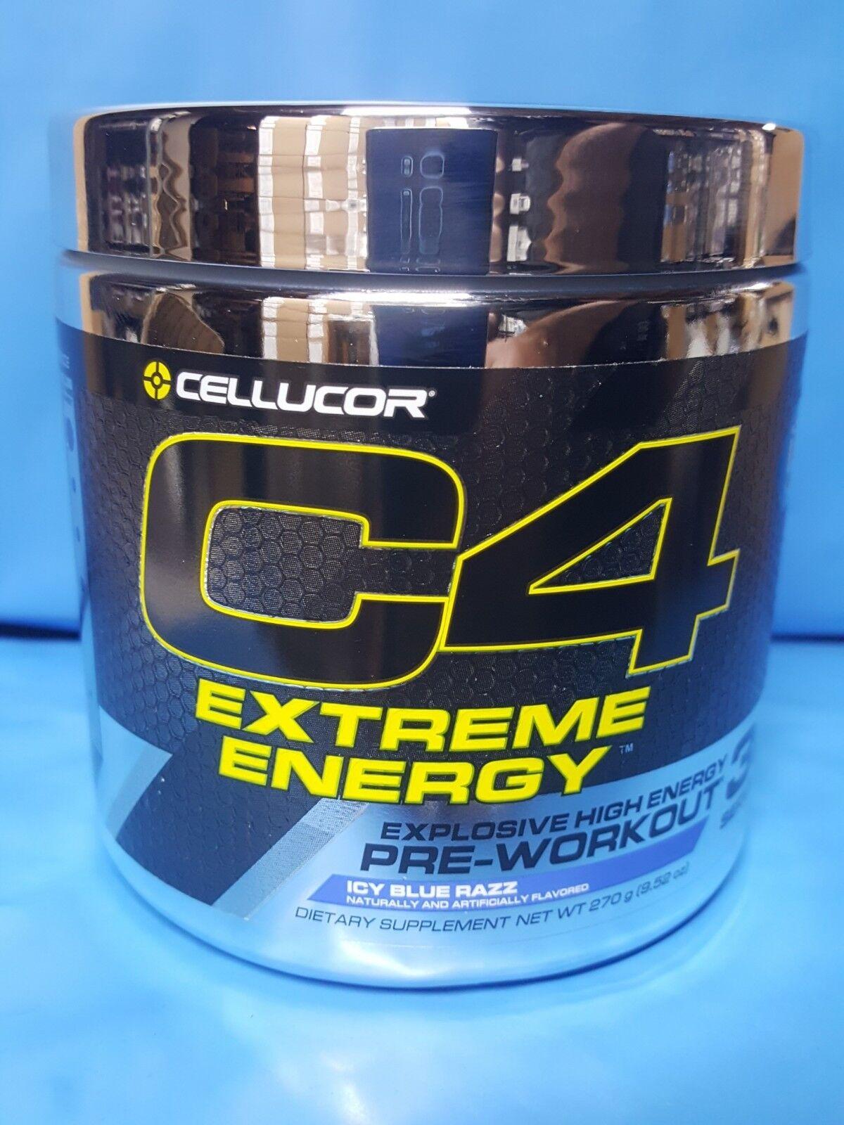 6 Packung Cellucor Cellucor Cellucor Extrem Energie Pre-workout C4 Eisige Blau Razz 30 Portionen 369cde
