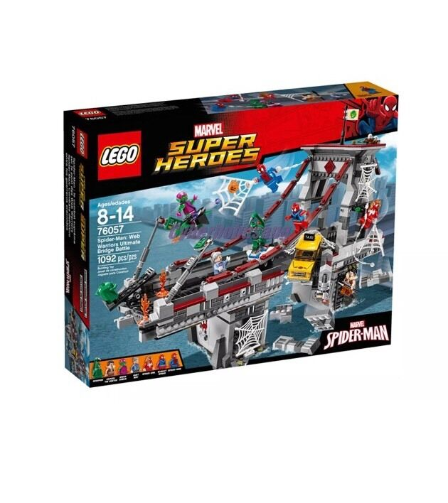 Lego Super Heroes 76057 Spindelmannen  Web Warriors Ultimate Bridge slåss New