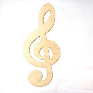 Notenschlussel 25cm Violinschlussel Musik Geschenk Geburtstag Holz