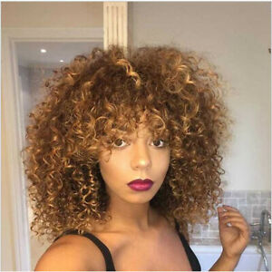 Ombre-Brown-Blonde-Curly-Wigs-for-Women-Afro-Kinky-Curly-Hair-Synthetic-Wig