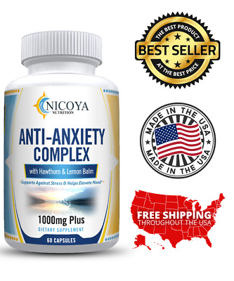 Natural Anti Anxiety & Stress Relief Supplement Pills | eBay