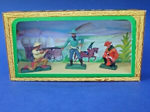 STARLUX-Ancienne-boite-3-cowboys-54mm-lot-1-plastic-toy-soldier