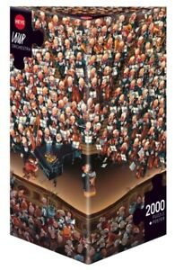 (HY08660) - Heye Puzzles - Triangular , 2000 Pc - Orchestra, Loup