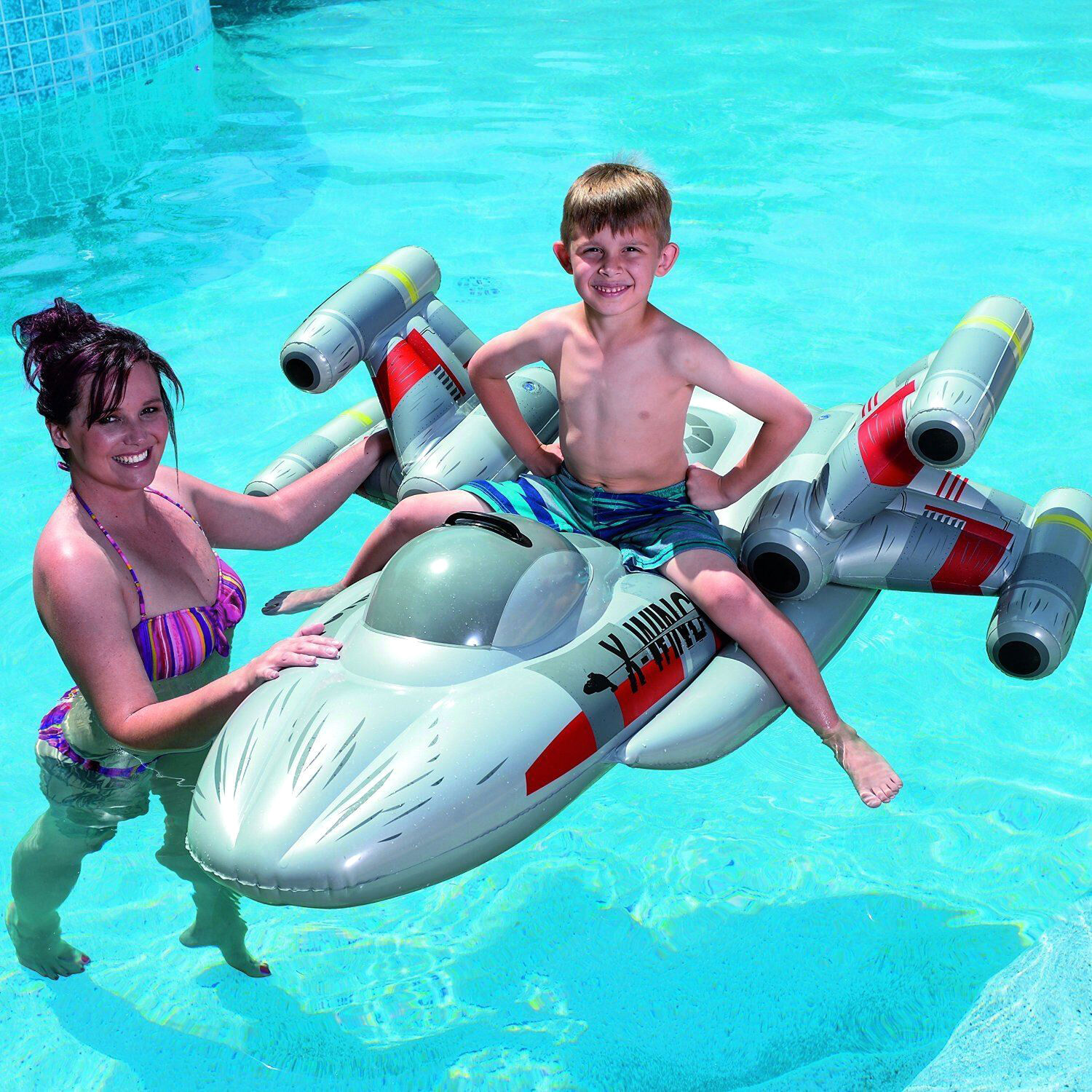 1.5m Official Star Wars X-Fighter Swimming Pool Inflatable Rider Toy Lilo Bed