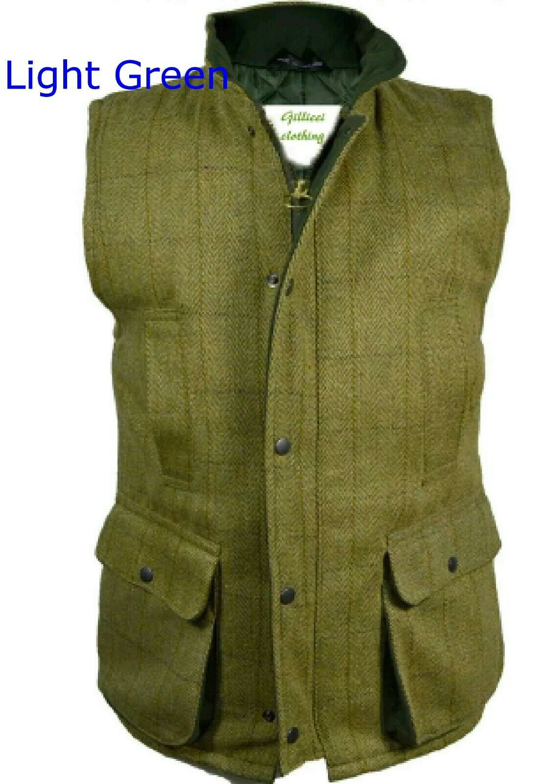 Men's New Derby Wool Tweed Shooting Waistcoat Gilet Bodywarmer Size S- 4XL