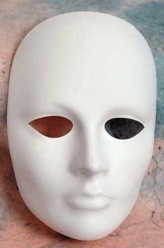 Blank White Female Mask MAGIC TRICK Painting Costume Creative Scary Dress-Up
