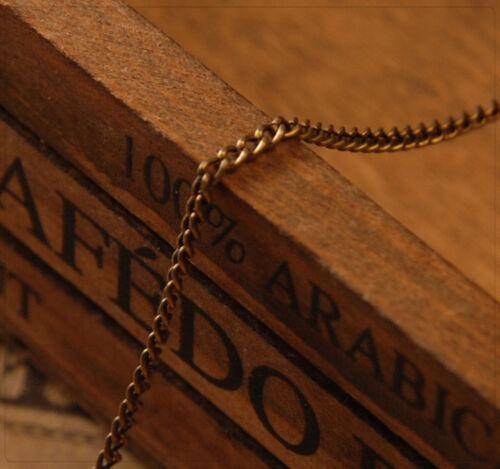 1 oder 5 Meter Gliederkette Metall Kette Schmuck DIY Basteln bronze 2x3mm