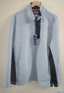 IZOD-Men-039-s-Advantage-Performance-Shaker-Fleece-Lt-Grey-Jacket-XL-New-with-Tags