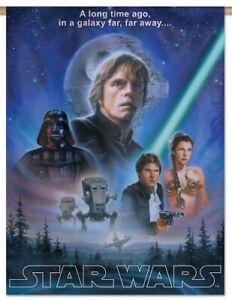 Star Wars Original Trilogy Official 28x40 Wall Banner Luke Leia Han Vader Ebay