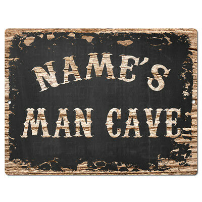 PP4237 ANY NAME/'S MAN CAVE RULES Custom Personalized Chic Sign Decor Funny Gift