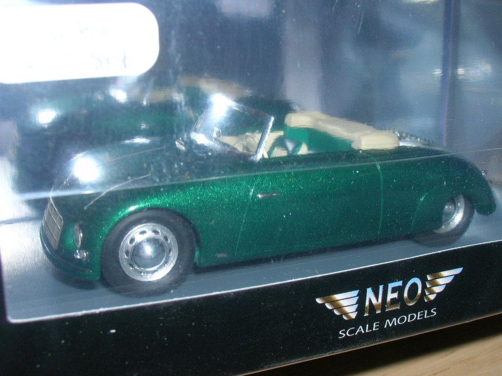 PORSCHE 356 WAIBEL SPIDER SPECIALE 1948   NEO    1 43  green     PROMO DISCOUNT