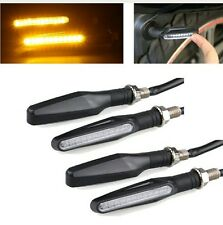 4x Motorcycle Amber LED Turn Signal Bike Indicators Light Lamp For Bajaj Honda