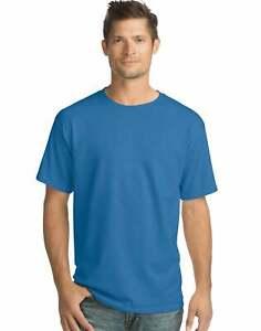 Hanes Men Crew neck T-Shirt 4-Pack ComfortSoft 100% Cotton Heavyweight Tee Plain