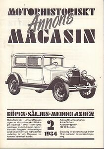Motorhistoriskt-Magasin-Annons-Swedish-Car-Magazine-2-1984-Ford-032717nonDBE