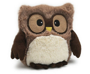 Plush Stuffed Animal Toy Cute Soft Baby Owl Gift For Kids Brown Microwavable New