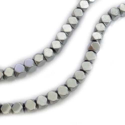 Environ 95 métal perles hématite cube 4,3mm brin perles Nenad-Design an110