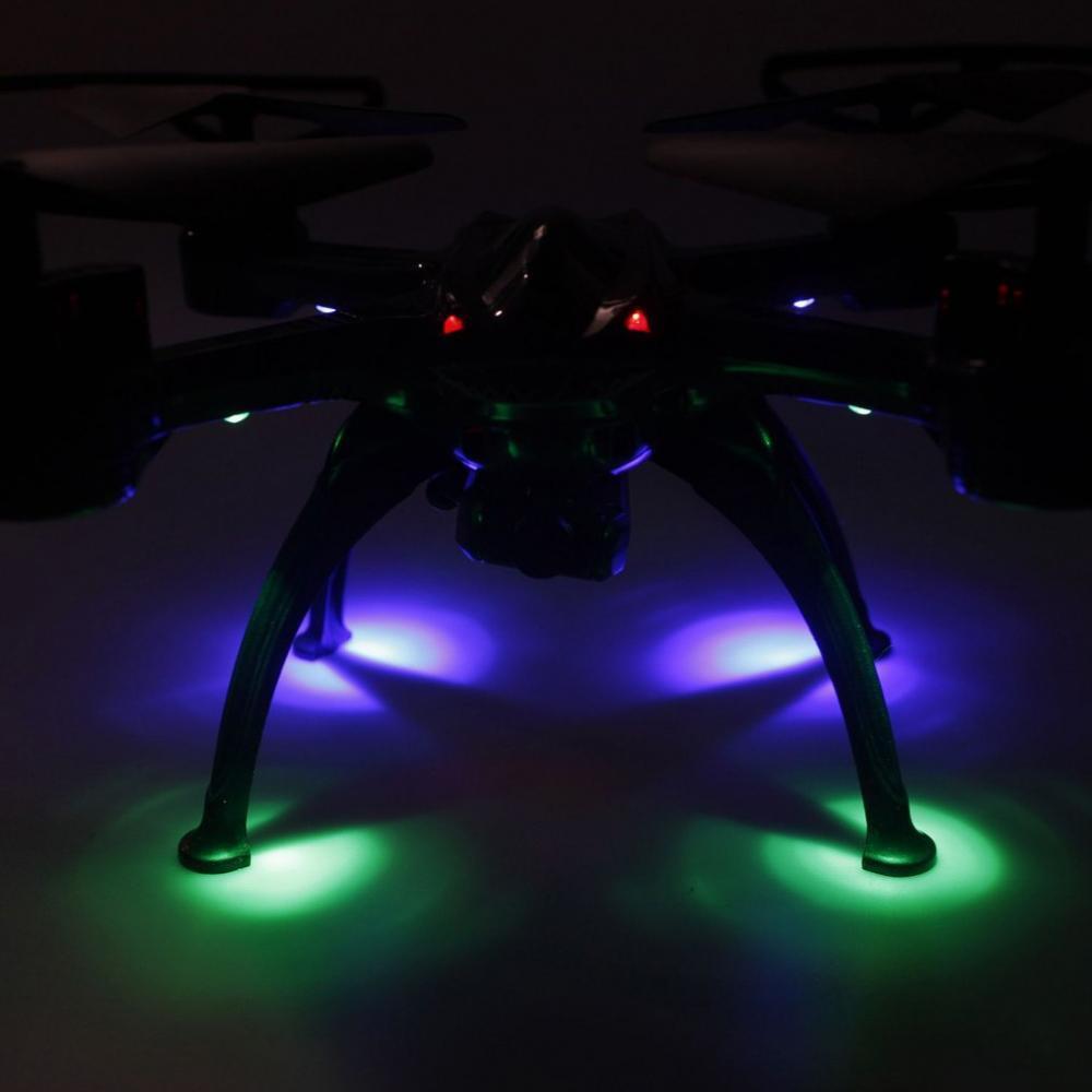 2.4G RC Drone con luz LED de Modo sin cabeza Una tecla Retorno de control de velocidad..