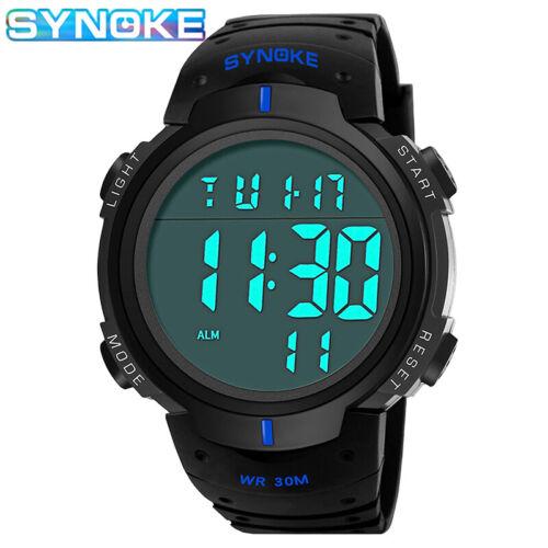 Sport numérique Montre Homme électronique de l/'alarme Chronomètre Wristwatch