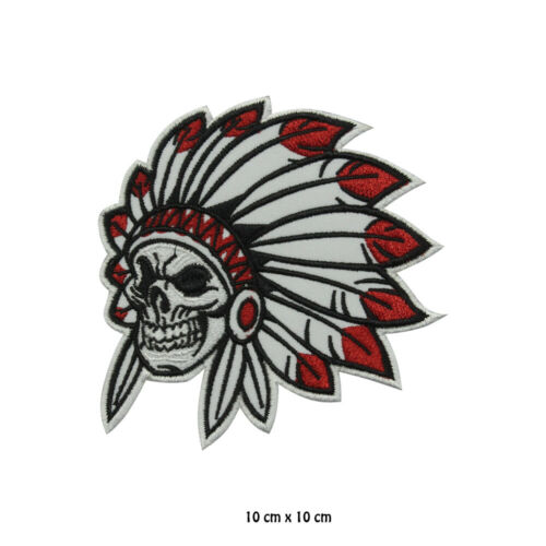 Reaper Skull Indian Skull Reaper Embroidered Patch Iron on Sew On Badge