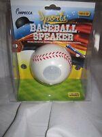 Impecca Sports Mobile Baseball Speaker Mbs110 3.5mm Port Cell Phone Mp3 Mp4