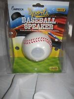Impecca Sports Mobile Baseball Speaker Mbs110 3.5mm Port Cell Phone Mp3 Mp4