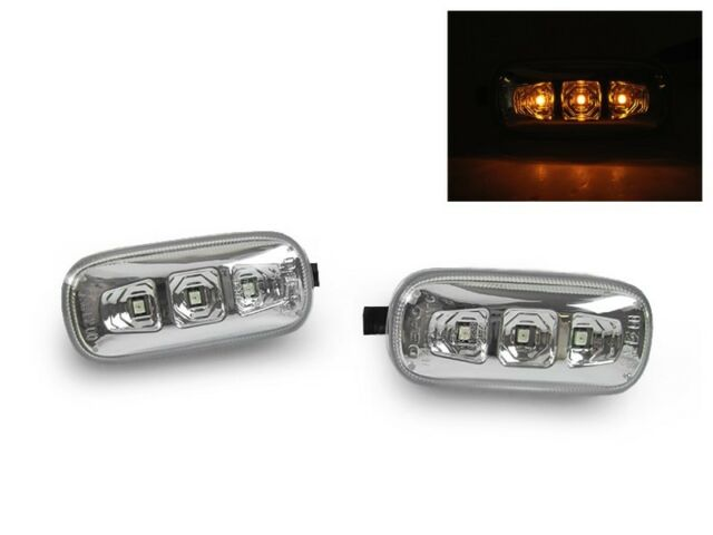 DEPO Clear Amber LED Fender Side Marker Light For Audi A4 S4 B6 B7 A6 C5 Allroad