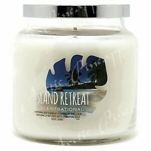 Scentsational-Natural-Soy-19oz-Single-Wick-Candle-With-Silver-Lid-Island-Retreat