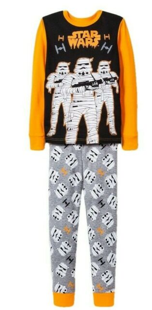 Disney Store Star Wars Stormtrooper 2 PC Long Sleeve Pajama Set Boy Size 7//8
