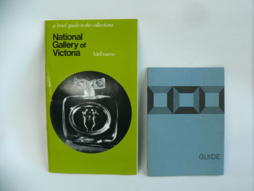 NATIONAL GALLERY VICTORIA 1968 VINTAGE TRAVEL PAMPHLET TOURIST BROCHURES