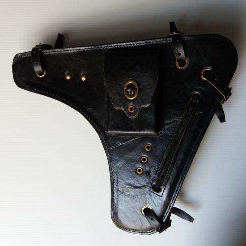Various MIDDLE FRAME BAG For Vintage Bicycle Handmade Dark Brown Color