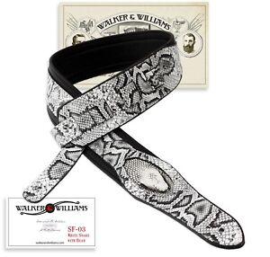 100% Vrai Walker & Williams Sf-03 Blanc & Noir Snake Pattern Bracelet Avec Snakehead-afficher Le Titre D'origine Dans La Douleur