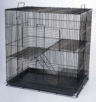 Chinchilla Guinea Pig Rat Hamster Rodent Mouse Rat Small Animal Cage Blk 777