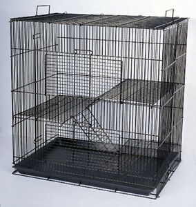 Chinchilla Guinea Pig Rat Hamster Rodent Mouse Rat Small Animal Cage BLK #555