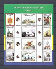 COLOMBIA  2004 CHOCO DEPARTMENT  SHEET X 12 MNH