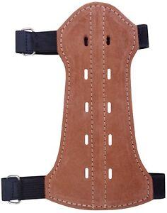 Fine En Cuir Et Daim Arm Guard Taille: 19 Cm Long X 9 Cm Tir à L'arc Produit Ag-217c. Jeunesse-afficher Le Titre D'origine