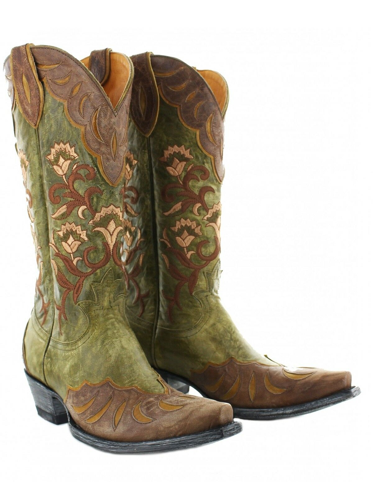 L2477-2 OLD GRINGO NAOMI MILITARY GREEN-BRASS OVERLAY 13